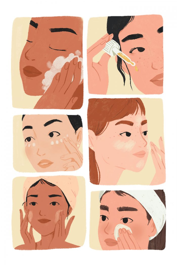 Beauty routine key steps
